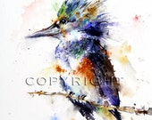 KINGFISHER Watercolor Print by Dean Crouser