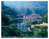 Japanese Tea Garden - Japan - bridge, traditional, home/office decor, travel photography 8x10 Original Fine Art Photograph