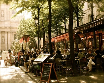 Paris Photography - Paris Cafe Photo - Tabac de la Sorbonne Print - Paris Bistro Photograph - French Cafe Wall Art - Restaurant Decor Europe