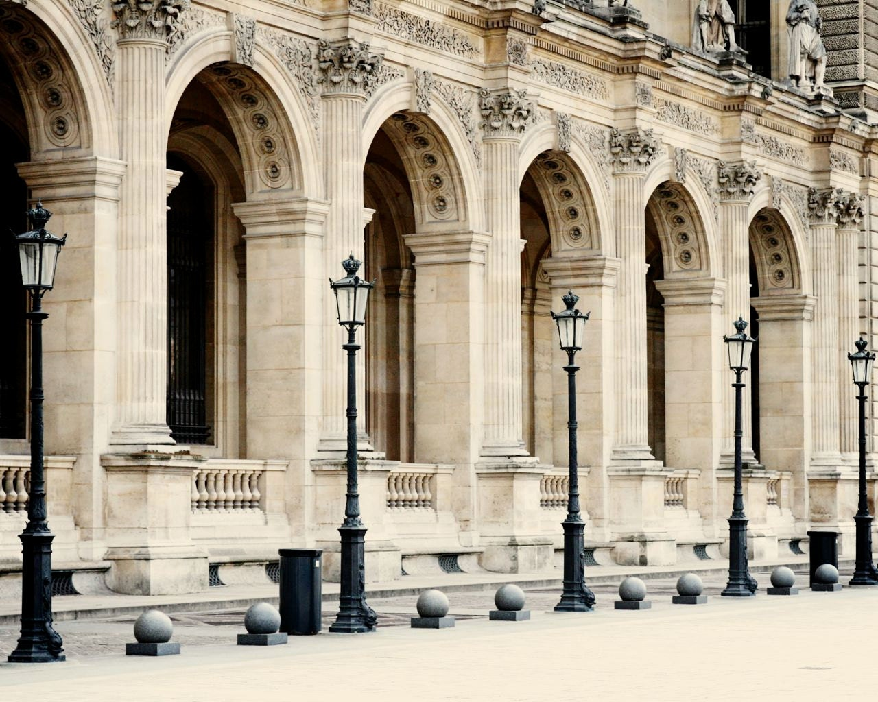 paris photography louvre print parisian architecture photo travel photograph neutral wall art. Black Bedroom Furniture Sets. Home Design Ideas