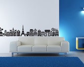 Vinyl Wall Decal Sticker Art - Funky Paris Skyline