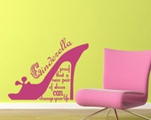 Vinyl Wall Decal Sticker Art - Cinderella Shoes - Whimsical
