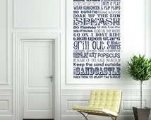 Lake Rules - Subway Style - Vinyl Wall Decal Sticker Art