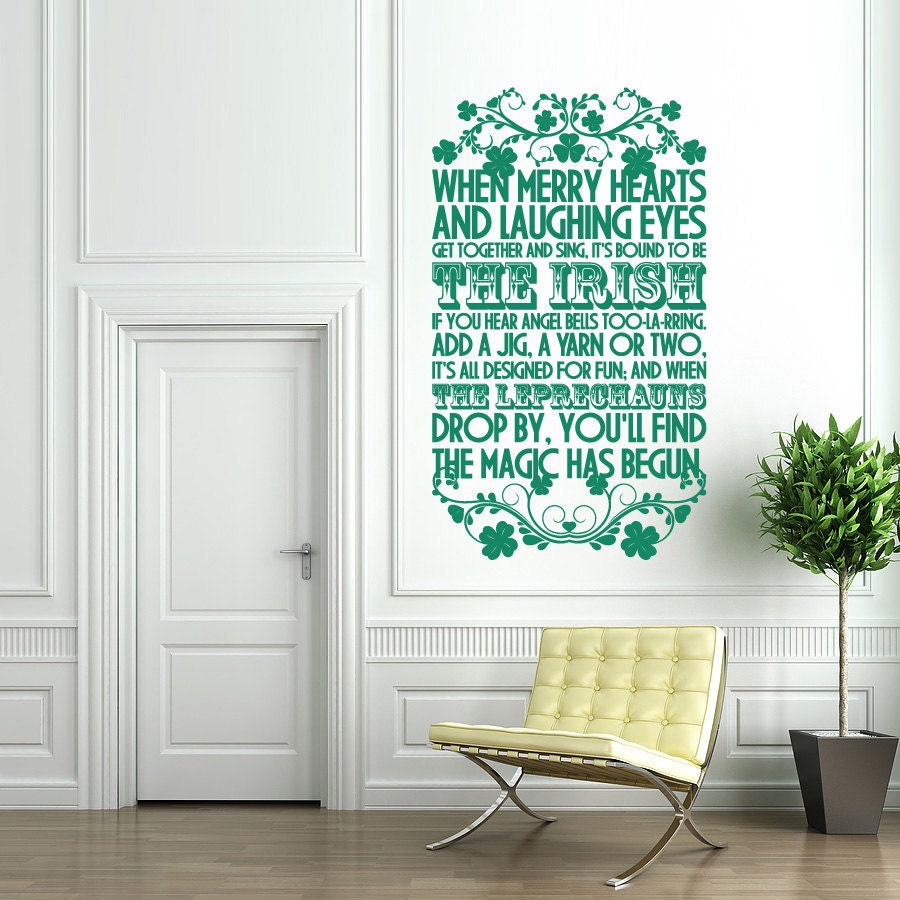 Wall Stickers Ireland  St Patrick S Day Wall Decal Sign - Nursery wall decals ireland