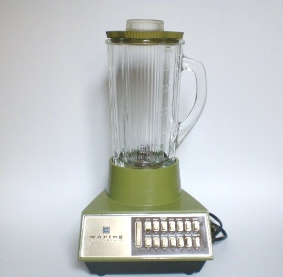 Vintage Avocado Green Blender Waring 1970s