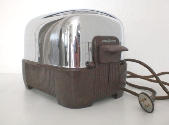 Antique Electric Toasters ~ Vintage general electric toaster s brown bakelite