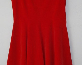 Vintage Christmas Red Velvet Jumper for Young Girl - Beautiful
