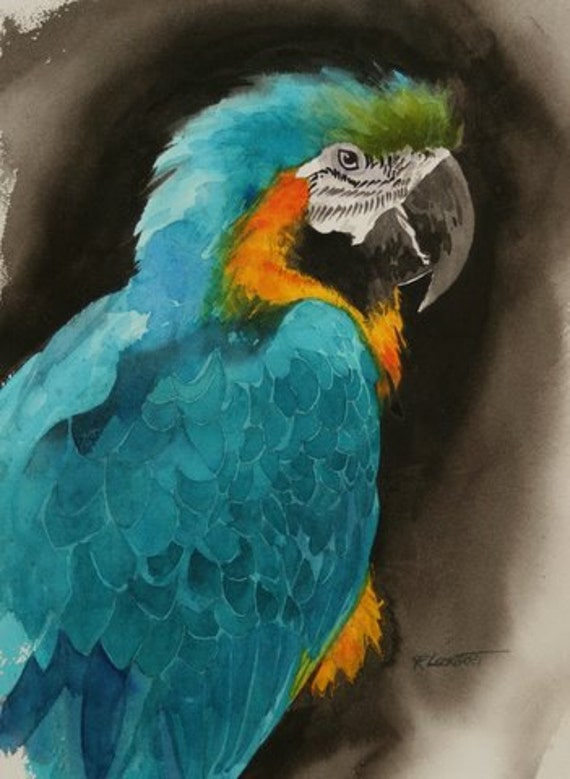 Pretty Bird----Watercolor By RAY LOCKHART