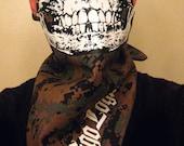 USMC woodland DIGITAL CAMO Camo Half Face Skull Bandana marpat bdu