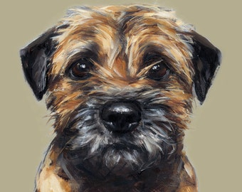 Border Terrier painting Print  - Ltd. Ed. dog art print - Border Terrier gift