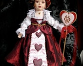 Queen of Hearts Porcelain Doll