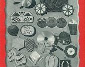 POT HOLDERS Vintage 1943 Crochet Book No. 196 Spool Cotton Company - Novelty Potholders Pads