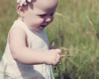 Girl linen dress - White Christening dress for girl, sizes 0.5 - 5 year - Flower girl dress