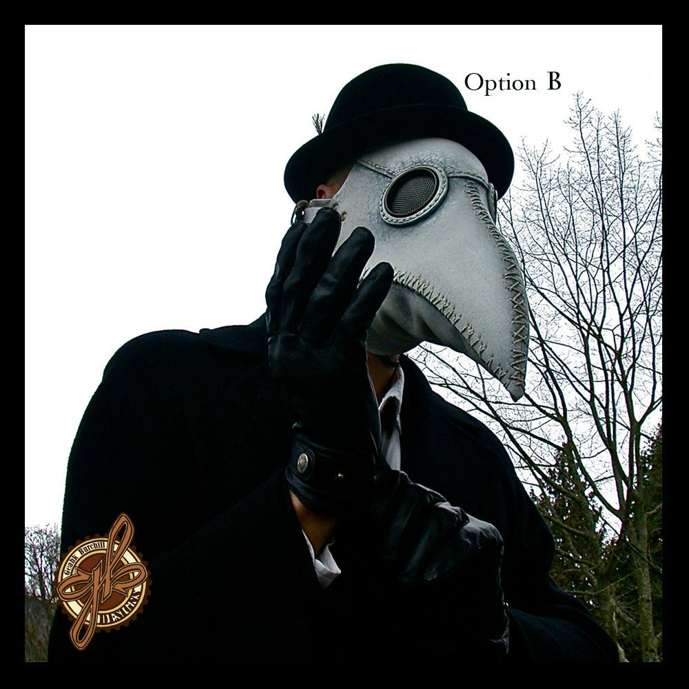 Plague Doctor Mask White Steampunk Costume By Geahkburchill