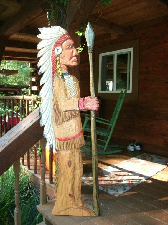 Items similar to native american indian ft quot chainsaw