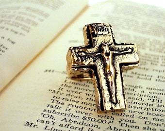 SUPER JESUS Crucifix RING