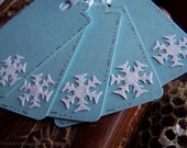 Blue SnowFlake Gift Tags Set of 6