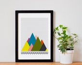 Mountains . A4 Poster