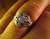 Baby Blue Natural Star Sapphire Sterling Silver filigree ring custom 4 4.5 5 5.5 8 8.5 9 9.5 10 sizes free 6 6.5 7 7.5 handmade fine jewelry