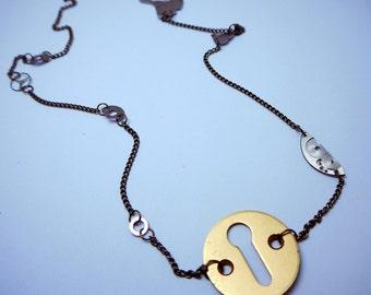 Steampunk Lock Necklace, Steampunk Jewellery, Lock Necklace, lock, steampunk necklace, Unisex jewellery