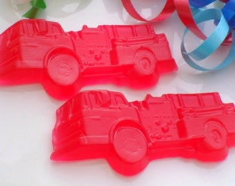 12 FIRE ENGINE BULK Soaps - Fire Truck Party Favor, Firetruck Birthday Party Favor - Fireman Baby Shower Favor (Soaps Only)