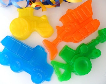 10 CONSTRUCTION BULK SOAPS - Construction Party Favor, Construction Birthday Party Favor - Construction Baby Shower Favor (Soaps Only)