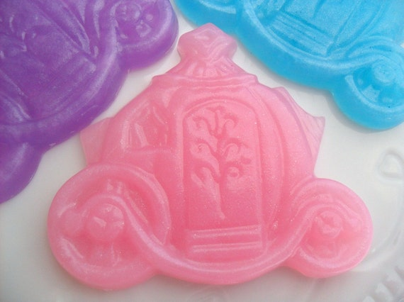 10 PRINCESS SOAP FAVORS - Princess Party Favor, Princess Birthday Party, Princess Baby Shower, Carriage, Cinderella (Favor Tags Included)