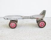 Vintage Globe Roller Skate Rusty Distressed Photo Prop Altered Art Repurpose Item