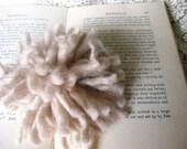 Original yarn pom pom BOUTONNIERE in tan