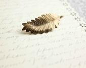 Leaf Bobby Pin, Fern Leaf, Golden leaf, Nature Hair Accessories, Modern Woodland
