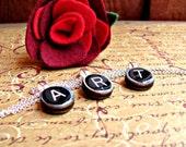 Typewriter Key Necklace Pendant