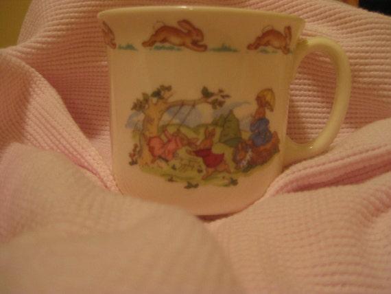 "Royal Doulton Bunnykins Cup ""Pushing Swing"""