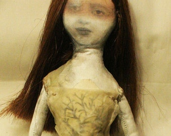 Violet: Mixed media,photographic art doll