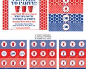 DIY -  Printable: Red Solo Cup Birthday Party INVITATION