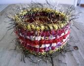 Florida State Seminoles Inspired Scrappy Bracelet - Garnet & Gold - Handmade