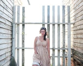 button down  linen beach comber dress- custom order