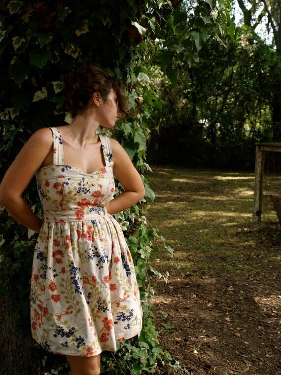 custom order linen garden dress