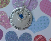 Personalized Necklace- Stamped Family Names - Sterling Silver - Christmas Jewelry -Great gift for Mom, Wife ,Nana, Grandmother, Aunt, Sister