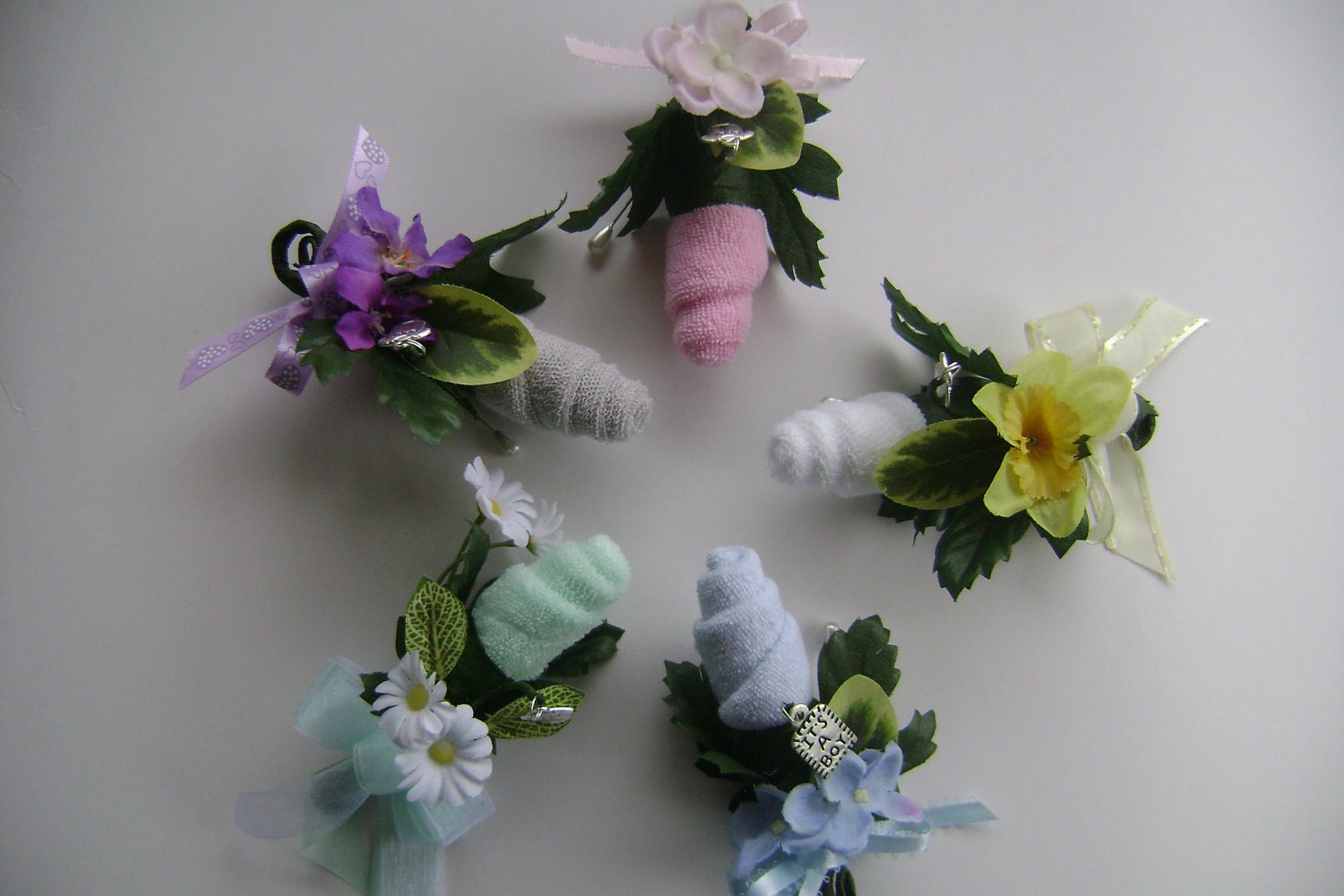 baby shower corsage daddy big sister grandmother by nonisniche