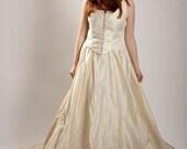 Vintage 1950s ecru creme wedding skirt