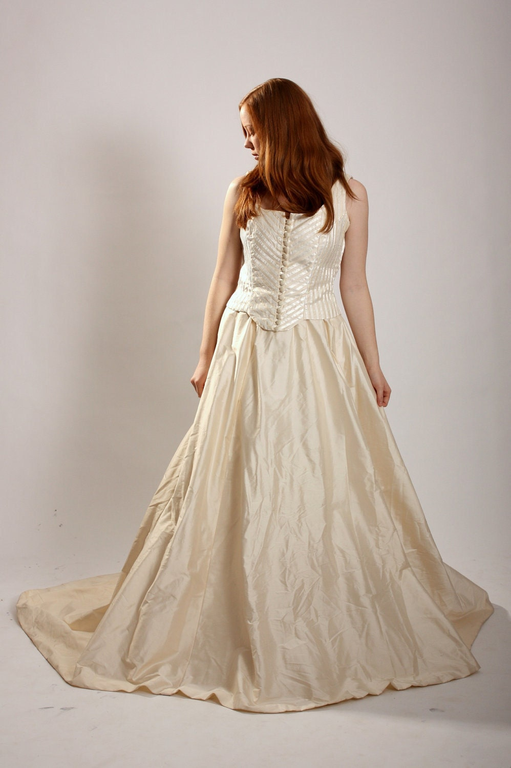 1800s wedding dress ecru creme wedding skirt