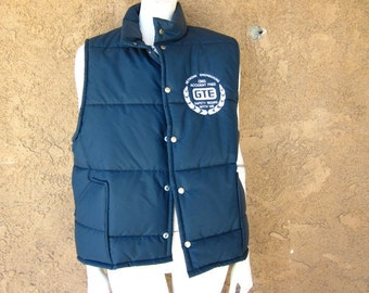 Mens Blue Puffy Vest