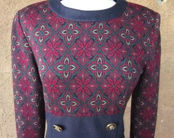 Leslie Fay Empire Waist Wiggle Dress
