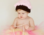 Cupcake Hat -  Baby Girl Hat - Birthday Bash - Pink Cupcake Baby Hat -Baby Hat  -by JoJosBootique