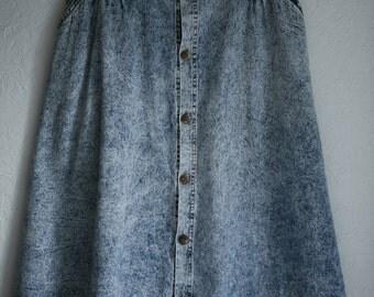 acid burnout- acid wash skirt