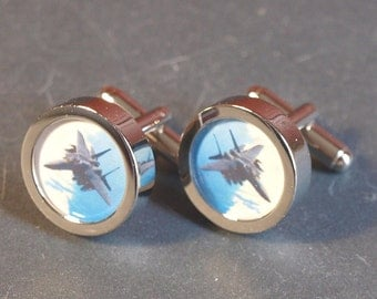 F15 Eagle Fighter Jet Aeroplane Cuff Links PC134