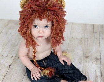 Baby Lion Hat, Newborn Lion Hat,  Crochet Baby Hat, Newborn Photo Prop, Crochet Photo Prop