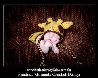 Newborn Giraffe  Hat  and Diaper Cover with Tai, Baby Giraffe Set, Newborn Photo Prop, Baby Boy Giraffe, Animal Hat, Zoo Nursery, Crochet