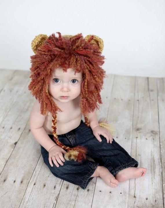 Baby Lion Hat, Newborn Lion Hat,  Crochet Baby Hat, Newborn Photo Prop, Crochet Photo Prop
