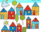 KPM Bright Neighborhood Digital Clipart